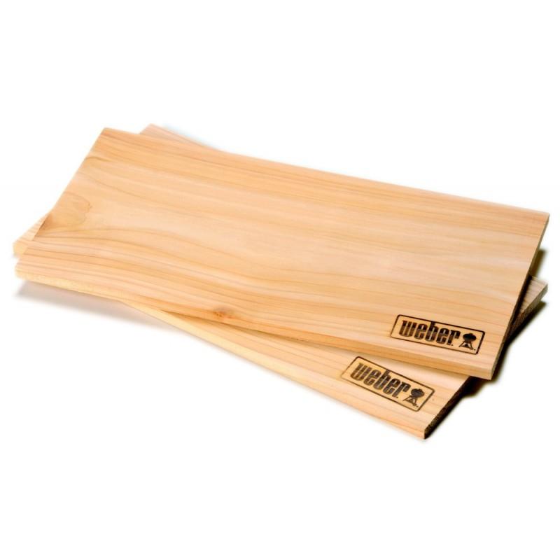 Udící prkénka z cedrového dřeva Weber