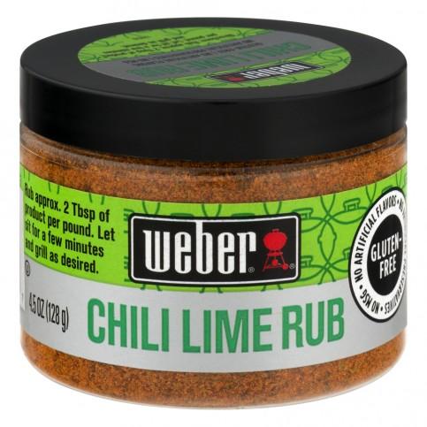 Koření Weber Chilli Lime Rub 128 g