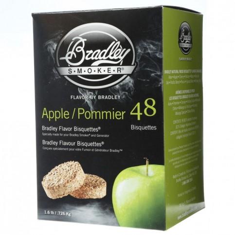 Udící brikety Bradley Smoker Jabloň 48 ks