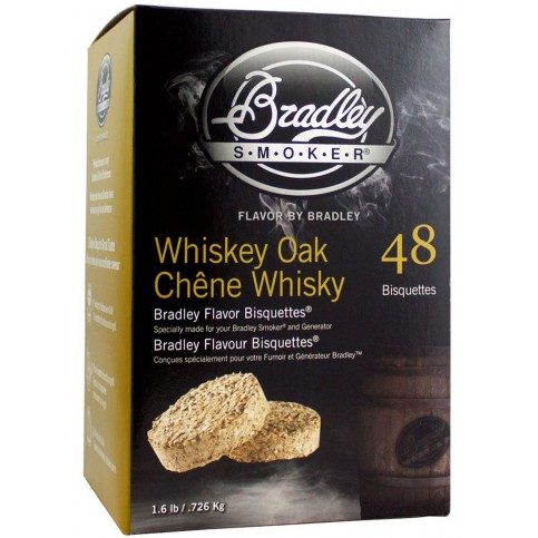Udící brikety Bradley Smoker Whiskey Dub 48 ks