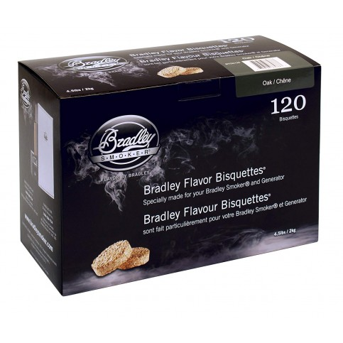 Udící brikety Bradley Smoker Dub 120 ks