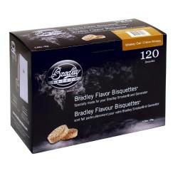 Udící brikety Bradley Smoker Bílý dub 120 ks