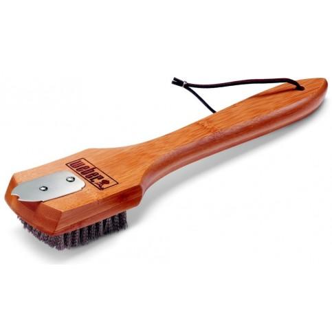 Kartáč s bambusovou rukojetí pro grily na dřevěné uhlí