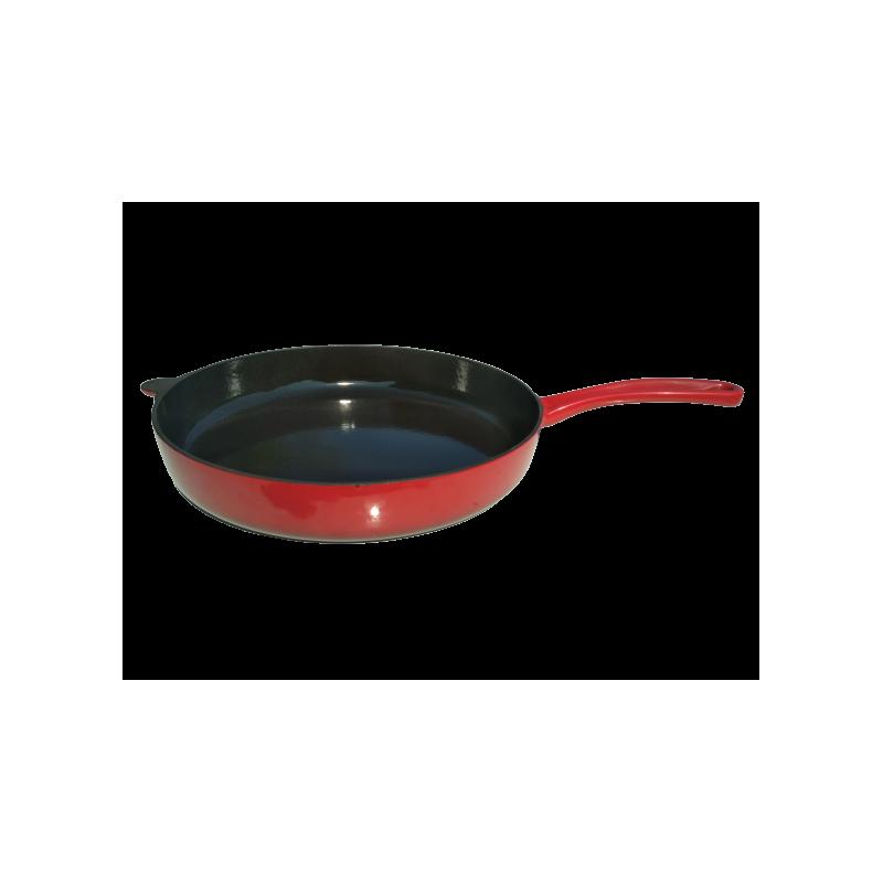 Červená litinová pánev Ø 28