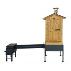 Doprodej - Dřevěná udírna Master Smoker L s topeništěm