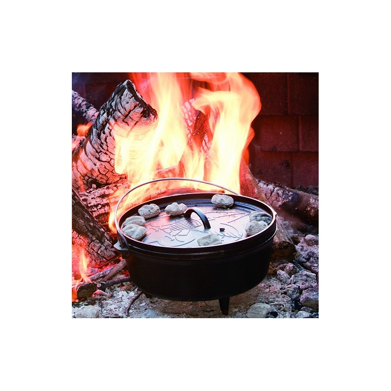 litinový hrnec na oheň dutch oven