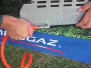 Grily Campingaz Plancha se napájejí pomocí plynové bomby.