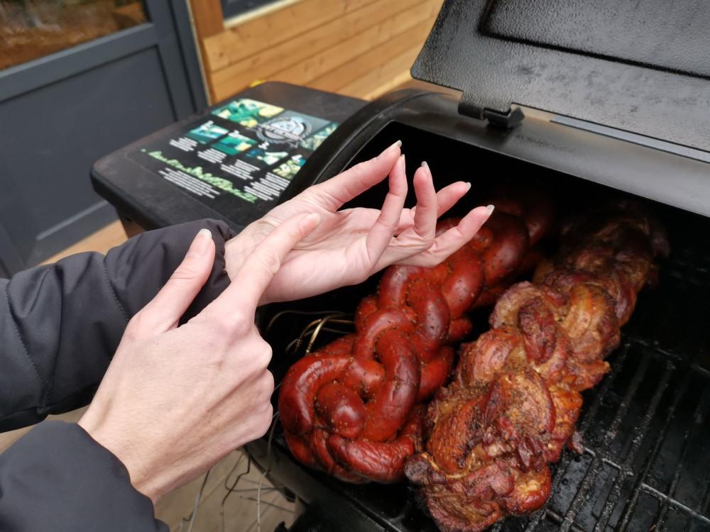 test při grilování masa