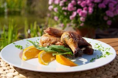 Grilované kuře s pomerančem a libečkem